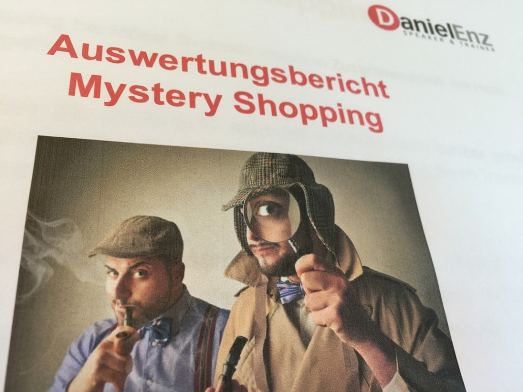 Auswertungen Mystery Shoppings